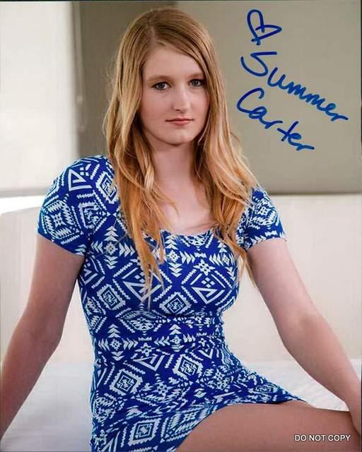 Summer Carter autographed Model RP 8X10 Photo RP0559   eBay
